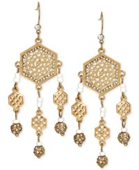 Inc International Concepts M. Haskell For Inc Gold Tone Filigree Chandelier Earrings Only At Macy's