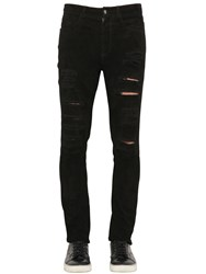 Giorgio Brato Cut Out Reversed Nappa Leather Pants