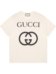 Gucci Oversize T Shirt With Interlocking G White