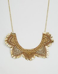 Asos Summer Flower Bib Necklace Multi