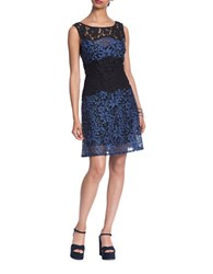 Plenty By Tracy Reese Sleeveless Flared Lace Dress Indigo