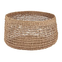 Nkuku Mendi Short Seagrass Basket Natural Beige