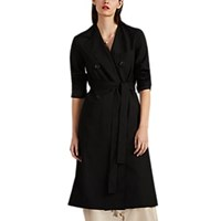 Robert Rodriguez Hybrid Belted Double Breasted Coat Black