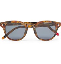 Oliver Spencer Conrad Round Frame Tortoiseshell Acetate And Gunmetal Tone Sunglasses Brown