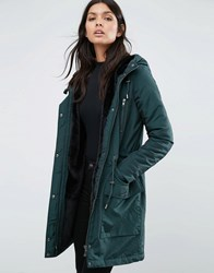 Y.A.S Calvein Padded Parka Coat Green