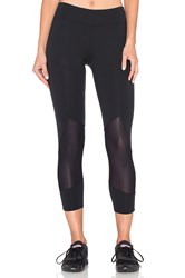 Solow Angled Crop Legging Black