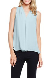 Women's Vince Camuto Sleeveless Pleat Front Blouse Blue Glass