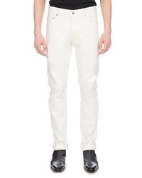 Berluti Straight Leg Cotton Jeans White
