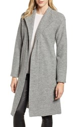 Fleurette Teddy Wool Wrap Coat Grey