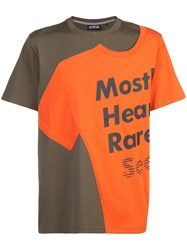 Mostly Heard Rarely Seen Logo Patch T Shirt Cotton Green