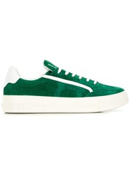 Salvatore Ferragamo Flat Low Top Trainers Green