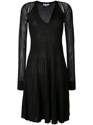 Opening Ceremony Cut Out Mesh Sleeve Dress Women Nylon Viscose M Black