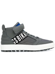 Dirk Bikkembergs Logo Hi Top Sneakers Grey