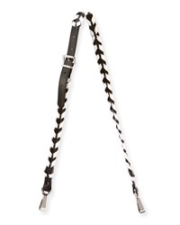 Proenza Schouler Whipstitched Leather Strap For Handbag Black White