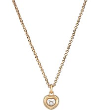 Chopard Miss Happy 18Ct Rose Gold And Diamond Pendant Necklace