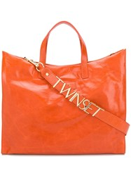 Twin Set Structured Leather Tote 60
