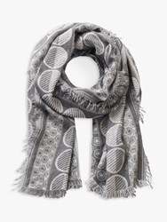 Betty Barclay Abstract Patterned Scarf Silver Multi