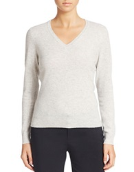Lord And Taylor Cashmere V Neck Sweater Shadow Heather