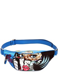 Moschino Eyes Faux Leather Belt Pack Multicolor