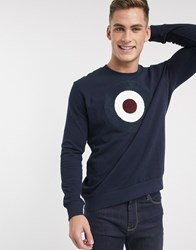Ben Sherman Flocking Target Sweat Navy