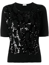 Dries Van Noten Malta Sequin Embellished Jumper Black