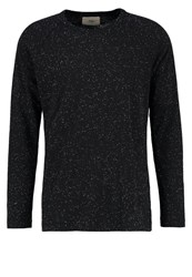 Folk Long Sleeved Top Charcoal Anthracite