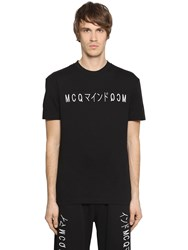 Mcq By Alexander Mcqueen Embroidered Cotton Jersey T Shirt