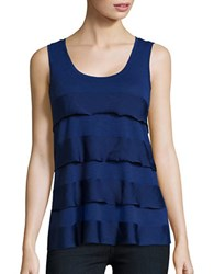 Lord And Taylor Plus Tiered Tank Purple