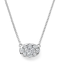 Kc Designs Diamond Cluster Pendant Necklace In 14K White Gold .35 Ct. T.W.