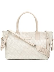 Tosca Blu Woven Tote Nude And Neutrals