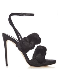 Marco De Vincenzo Velvet High Heel Sandals Black