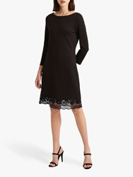 French Connection Lace Trim Dress Black