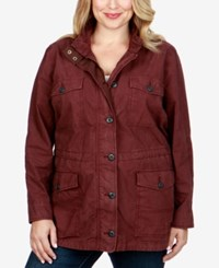 Lucky Brand Trendy Plus Size Utility Jacket Fig