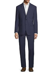 Vince Camuto Plaid Wool Suit Navy