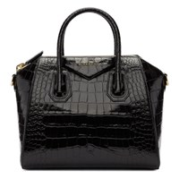 Givenchy Black Croc Small Antigona Bag