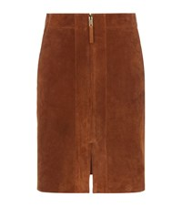 Reiss Joss Suede Skirt Female Tan