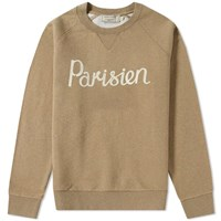 Maison Kitsune Parisien Crew Sweat Neutrals