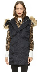 3.1 Phillip Lim Fur Trim Flight Vest Midnight
