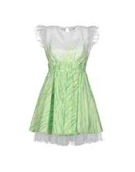 Mangano Short Dresses Light Green