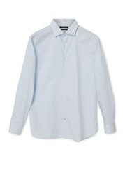 Mango Hyatt Slim Fit Striped Cotton Shirt Light Blue