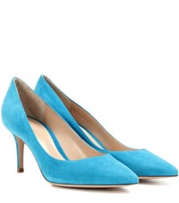 Gianvito Rossi 70 Suede Pumps Blue