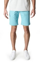 7 Diamonds Men's Slim Fit Brushed Twill Shorts Dusty Blue