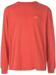 Stussy Jersey Sweatshirt Red