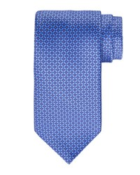 Stefano Ricci Geometric Square Printed Silk Tie Light Blue