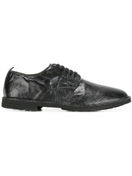 Rocco P. Wrinkled Effect Derbies Black