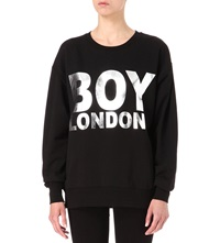 Boy London Logo Sweatshirt Black Silver