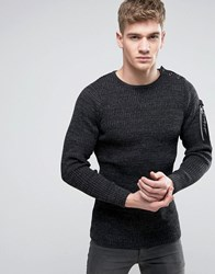 G Star Effo Print Knitted Jumper Black