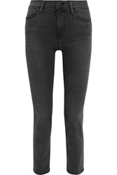 Frame Le High Straight Leg Jeans Gray