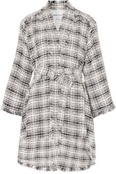 Sonia Rykiel Belted Cotton Blend Tweed Coat White