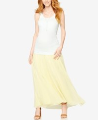 A Pea In The Pod Maternity Maxi Skirt Yellow Ombre